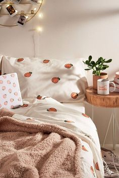 Peach Duvet Cover Set at Urban Outfitters today. We carry all the latest st. Shop Peach Duvet Cover Set at Urban Outfitters today. We carry all the latest st.Shop Peach Duvet Cover Set at Urban Outfitters today. We carry all the latest st. Teen Room Decor, Bedroom Decor, Bedroom Ideas, Bed Ideas, Wall Decor, Cute Dorm Rooms, Aesthetic Room Decor, Minimalist Bedroom, Girls Bedroom