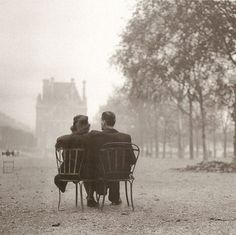 Jardin des Tuileries, Paris, 1945. The war is over.