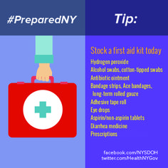 Majority of folks don't have a first aid kit for emergencies or minor injuries. Buy or put one together today. #firstaid #firstaidkit #supplies #emergencysupplies #emergencies #preapred #PreparedNY www.facebook.com/NYSDOH
