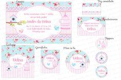 Kit Digital Shabby Chic - Gaiolas, casinhas e passarinhos - Jardim Encantado - Charme Papeteria