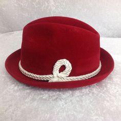 RARE Vintage Red NFL Kansas City Chiefs Byer-Rolnick Men s Fedora Hat Size  7   9d9d75b32760