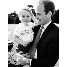 The Duke of Cambridge playing with Prince George in the garden at Sandringham House