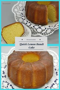 Lemon Bundt Cake, Bundt Cakes, Pastry Dishes, Austrian Recipes, Ten Minutes, Lemonade, Wordpress, Tasty, Fruit
