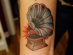 A More Simple Phonograph Tattoo