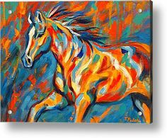 Abstract Acrylic Paintings for Sale | Abstract Horse Painting Acrylic Prints - Aurora Acrylic Print by ...