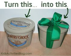 """How to clean the """"image"""" off of tubs to re-use them for gift giving."""