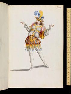 Mollier/Benserade, Ballet Royal de la Nuit, 1653: Fourth Watch, 4th Entrée-Ixion (Costume design H. de Gissey)