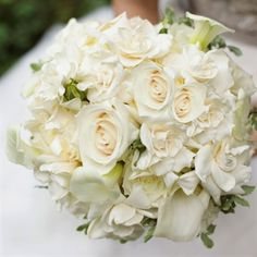 wedding calla lily garden rose bouquet - Google Search