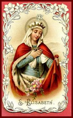 """St Elizabeth of Hungary, when she was a little girl and used to play about the palace with her companions, would always pick a spot near the chapel so that every now and then, without being noticed, she might stop by the chapel door, kiss the lock, and say to Jesus, """"My Jesus, I am playing, but I am not forgetting You. Bless me and my companions. Goodbye."""""""