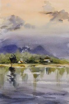 Fernando Pena - Acuarelas - Watercolors: Atardeceres