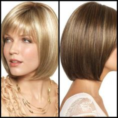 Bob Hairstyles with Bangs   Delicate Bob Hairstyle With Bangs 2013   Trendy Mods.Com