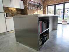 Stainless steel island worktop