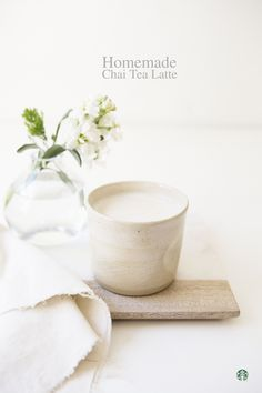 Homemade Chai Tea Latte Recipe. INGREDIENTS: 2-3 teaspoons loose leaf Oprah Chai Tea, 8oz boiling water, 1 cup milk of choice, 3 pumps vanilla syrup. DIRECTIONS: Brew Oprah Chai tea in boiling water for 3-4 minutes and set aside. Heat milk on stovetop, but be careful not to boil. Remove from heat and whisk for 3-4 minutes to create foam. Add syrup and milk to tea. Mix together and enjoy!