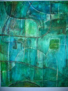 abstract oil - acrylic