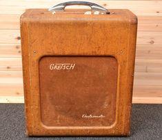 JUST SERVICED ALL ORIGINAL SOUNDS AMAZING! Vintage 1953 GRETSCH 6163TUBES:Philco 312 5717GE 62-43 188-5Sylvania 6L6RCA 6SJ7GE 6SJ7Speaker:Utah MH12pxc