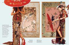 新中式波普风。印度尼西亚籍摄影师 Ryan Tandya为杂志拍摄「Montase Chinoiserie」系列,以拼贴的方式带入中国传统元素,同时又兼具时尚感。