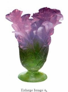 Daum Crystal Rose Vase