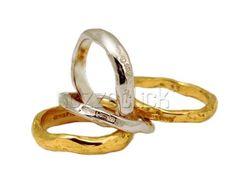 FEDI BOMBATE DI VARIO SPESSORE EROS COMIN Creazioni Gioielli #anelli # ...