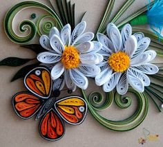 Neli Quilling Art: Quilling cards flowers and ....butterfly