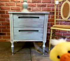 Painted in Soapstone with a Pearl Metallic wash from Fusion Mineral Paint!