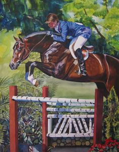 the 2011 Capital Challenge Horse Show poster - Scott Stewart and Declaration in the hunters, by Michael Tang.  Beautiful