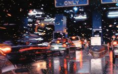 """""""Cash Only"""" rainy day oil painting by Gregory Thielker"""