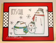 She's gone digital...: Paper Smooches Swanky Snow Dudes