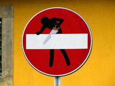 Crazy #Traffic #Signs http://www.kafepauza.mk/art-i-dizajn/zabavni-soobrakjajni-znaci/
