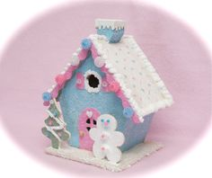 Sew Can Do: My Sweet Little Glitter Cottage & Tutorial To Make Your Own!