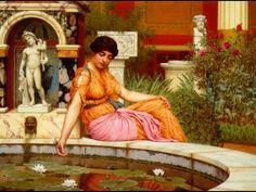 a lily pond, john william godward