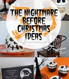 30 The Nightmare Before Christmas ideas for lovers of the Disney Movie. Parties, recipes, crafts, decorations, and all things Jack Skellington! Sally Skellington, Nightmare Before Christmas Halloween, Halloween Drinks, Jack And Sally, Christmas Ideas, Christmas Parties, Fall Diy, Samhain, Hallows Eve