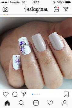 Diy Nail Designs, Short Nail Designs, Cute Nails, Pretty Nails, Water Color Nails, Special Nails, Animal Nail Art, Floral Nail Art, Flower Nails