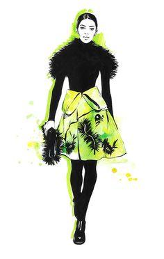 Diana Kuksa (Nesypova) on Behance Moda Fashion, Fashion Art, Fashion Models, Fashion Beauty, Vintage Fashion, High Fashion, Fashion Illustration Sketches, Illustration Mode, Fashion Design Sketches