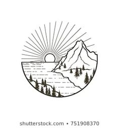 Explore 645 high-quality, royalty-free stock images and photos by Lions mane available for purchase at Shutterstock. Easy Doodles Drawings, Mini Drawings, Cool Art Drawings, Pencil Art Drawings, Forest Drawing, Nature Drawing, Ocean Drawing, Holz Tattoo, Berg Tattoo