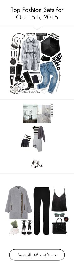 """""""Top Fashion Sets for Oct 15th, 2015"""" by polyvore ❤ liked on Polyvore featuring RED Valentino, Hunter, ShedRain, Alexander McQueen, GHD, NIKE, Georg Jensen, American Apparel, Korres and Bobbi Brown Cosmetics"""