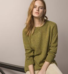 ROUND NECK TWEED SWEATER - Sweaters - Knitwear - WOMEN - United States - Massimo Dutti
