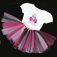 """""""I like big bows and I can not lie""""   Adorable Little Girls Tutu & T-Shirt combo"""
