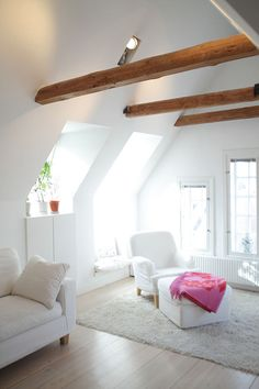 white, white, white, and exposed wood.  yes please.