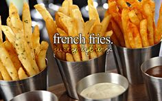 Especially McDonald's... I don't like anything from McDonald's except their French fries..