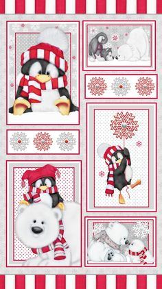 F6531P-98 , Arctic Antics by Shelly Comiskey of Simply Shelly Designs, Henry Glass & Co., Inc.