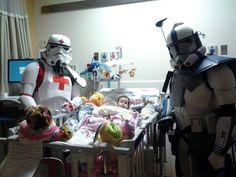 Friend's baby has emergency heart surgery and gets visit from stormtroopers. - Imgur (stormtroopers,emergency heart surgery,little one,love,healing,cute,reddit,star wars)