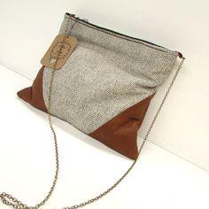 leather and designer cotton handbag shoulder bag purse. $67.00, via Etsy.