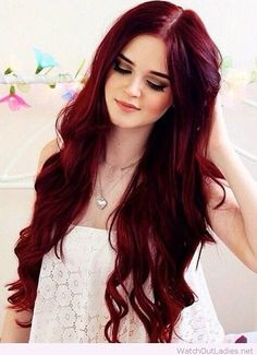 Perfect deep red hair color inspiration! Check now these beautiful red hair styles! <3