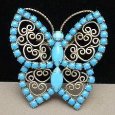 Butterfly Pin & Pendant Vintage Large Brooch
