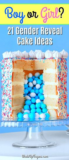 Boy or girl - him or her - he or she - gender reveal party - gender reveal cake ideas - gender reveal cakes Baby Gender Prediction, Baby Reveal Cakes, New Cake, Cakes For Boys, Reveal Parties, Pregnancy Tips, Pregnancy Timeline, Happy Pregnancy, Pregnancy Announcements