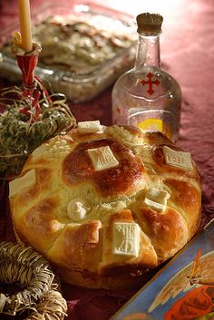 serbian slava bread....can't believe i found thison here!!! this is a little different thanhow we make it