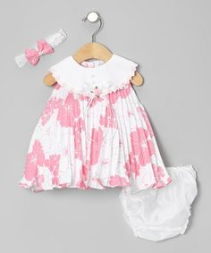 Take a look at this Hot Pink Floral Swing Dress Set - Infant by Shanil on #zulily today!