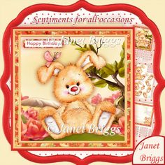 Chilled Bunny 8x8 Decoupage & Insert Mini Kit for All Occasions
