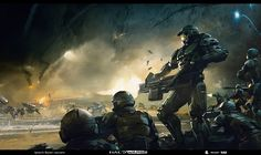 Halo Wars 2 concept art part Ignacio Bazan-Lazcano Odst Halo, Art Cyberpunk, Halo Armor, Halo Spartan, Halo Collection, Halo Master Chief, Halo Series, Halo Game, Halo Reach
