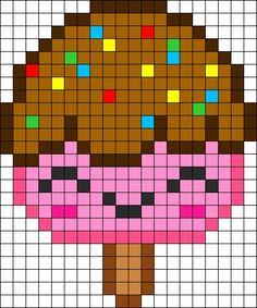 Resultado de imagen de comida kawaii pixel art
